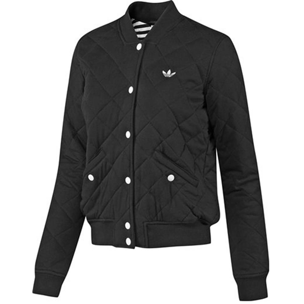 adidas womens originals college jacket quilted jacket. Black Bedroom Furniture Sets. Home Design Ideas