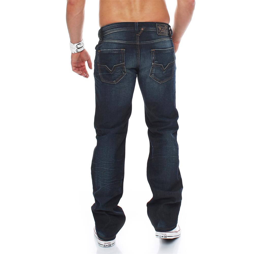 diesel jeans larkee regular straight jeans homme hommes denim pantalon ebay. Black Bedroom Furniture Sets. Home Design Ideas