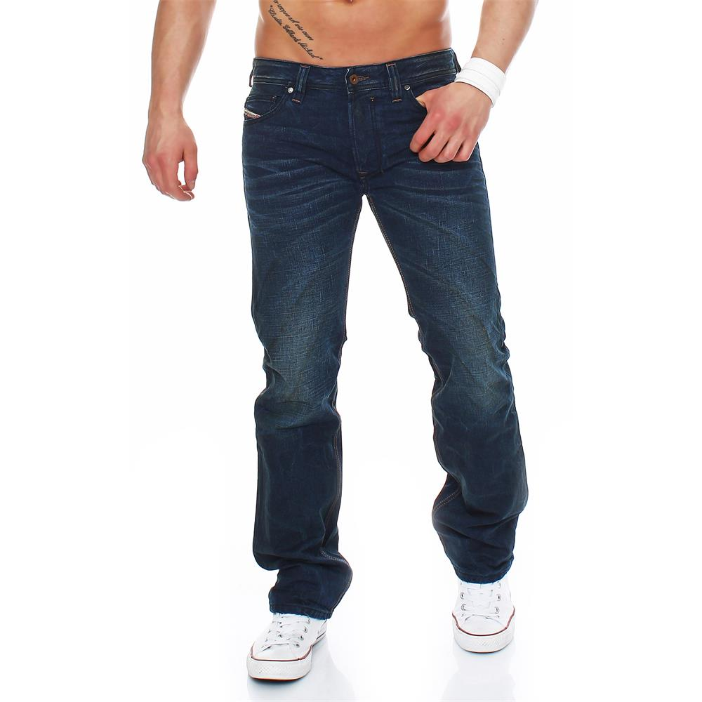 diesel safado 0815a jeans regular slim straight herrenjeans herren hose blau ebay. Black Bedroom Furniture Sets. Home Design Ideas