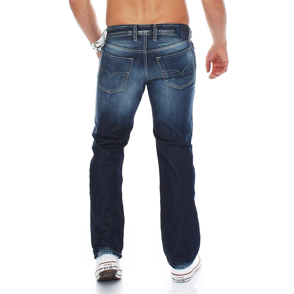 diesel waykee jeans regular straight herrenjeans herren denim hose ebay. Black Bedroom Furniture Sets. Home Design Ideas