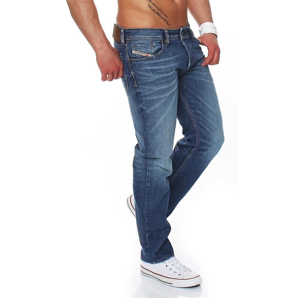 diesel jeans waykee regular straight jeans homme hommes denim pantalon ebay. Black Bedroom Furniture Sets. Home Design Ideas