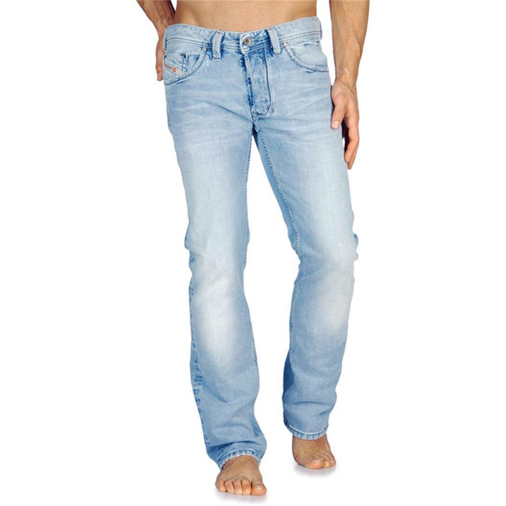diesel larkee 0888s herren jeans hellblau regular straight herrenjeans hose ebay. Black Bedroom Furniture Sets. Home Design Ideas