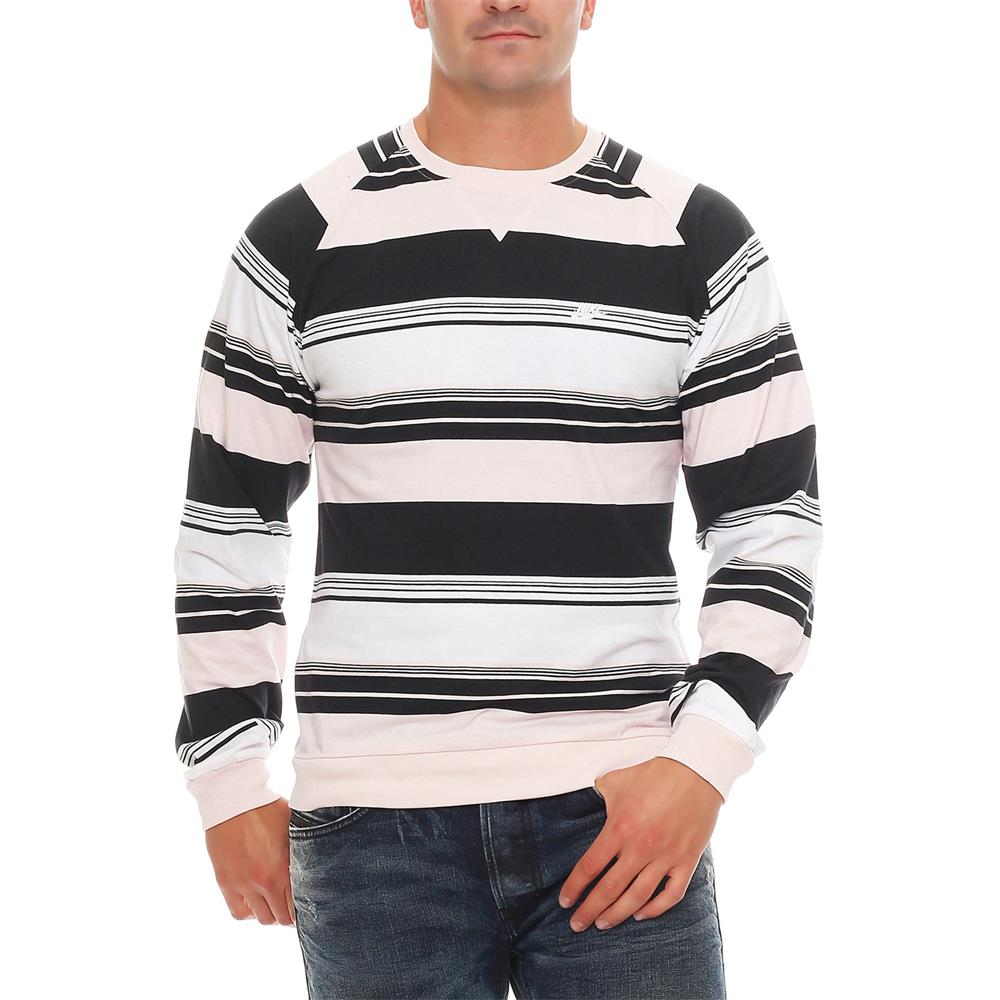 nike fusion yarn dyed striped crew neck sweatshirt crewneck pullover pulli ebay. Black Bedroom Furniture Sets. Home Design Ideas