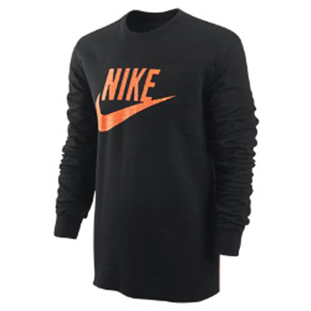 nike sportswear tape logo sweatshirt pullover schwarz. Black Bedroom Furniture Sets. Home Design Ideas