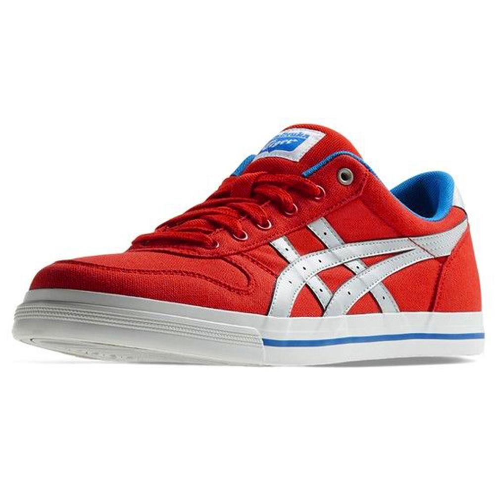 asics onitsuka tiger aaron cv white/mid blue/red
