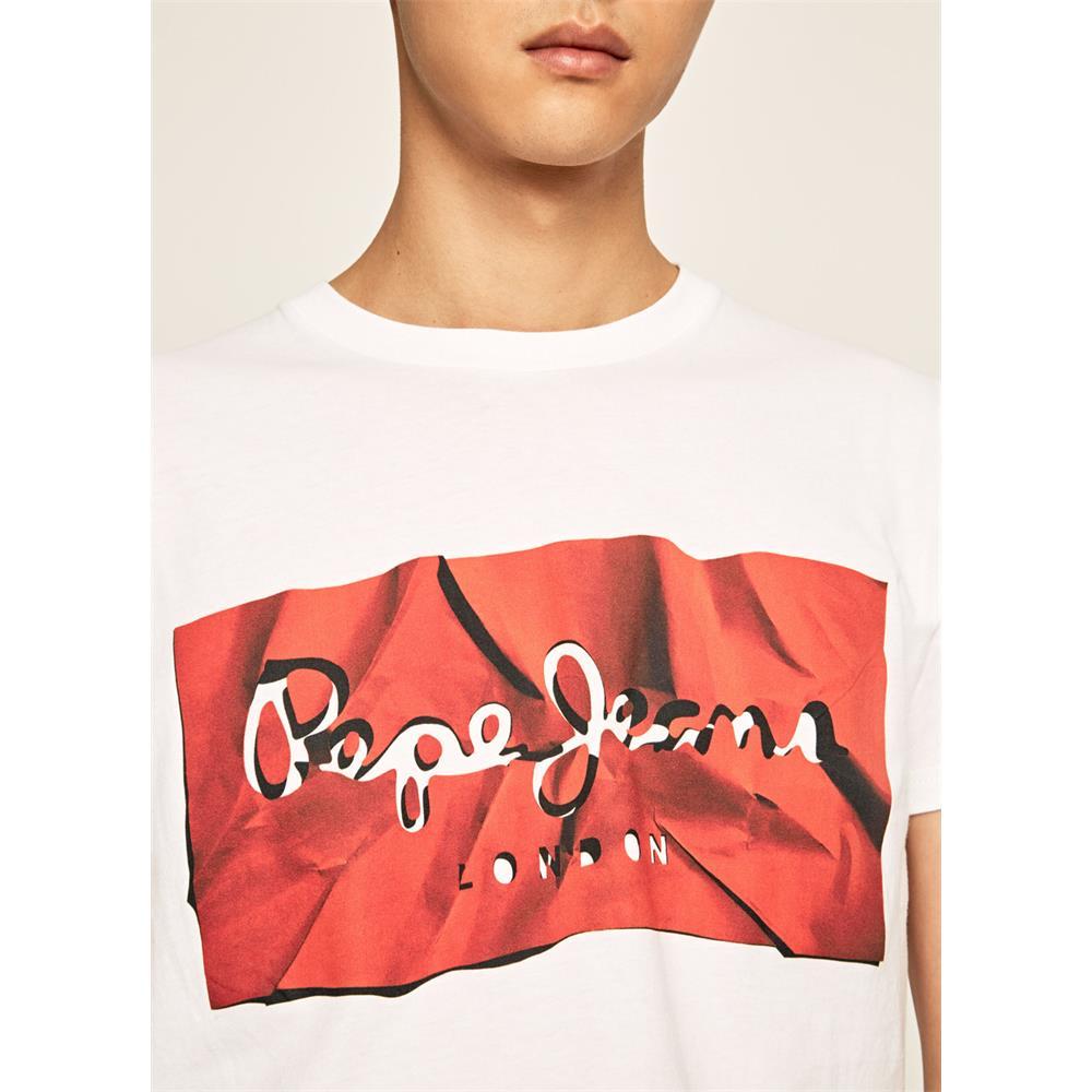 Pepe Jeans Raury Herren T-Shirt Slim Tee Rundhals Kurzarm Shirt