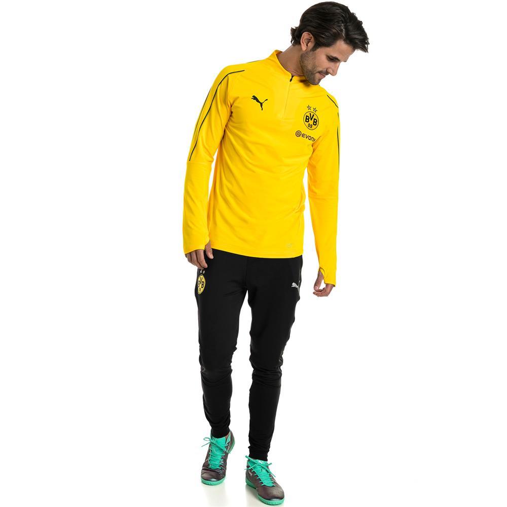 Puma BVB Borussia Dortmund Herren 1//4 Zip Training Top Langarm