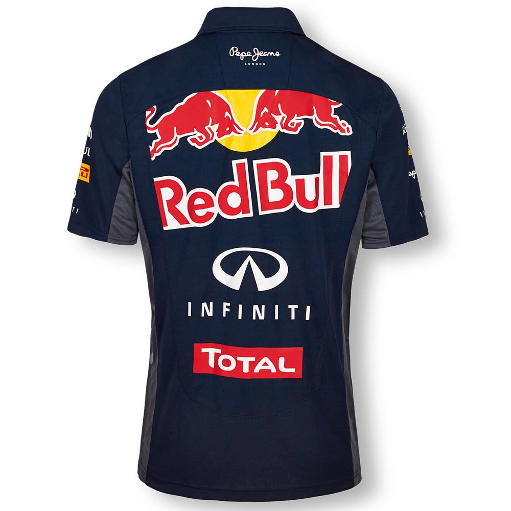 pepe jeans red bull racing official teamline functional f1 polo shirt poloshirt. Black Bedroom Furniture Sets. Home Design Ideas