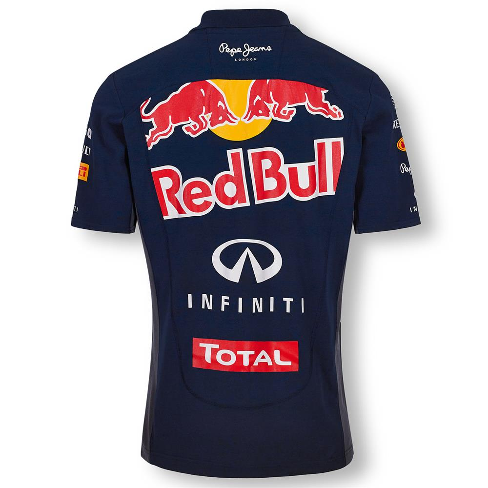 pepe jeans red bull racing official teamline f1 polo shirt shirt polo shirt ebay. Black Bedroom Furniture Sets. Home Design Ideas