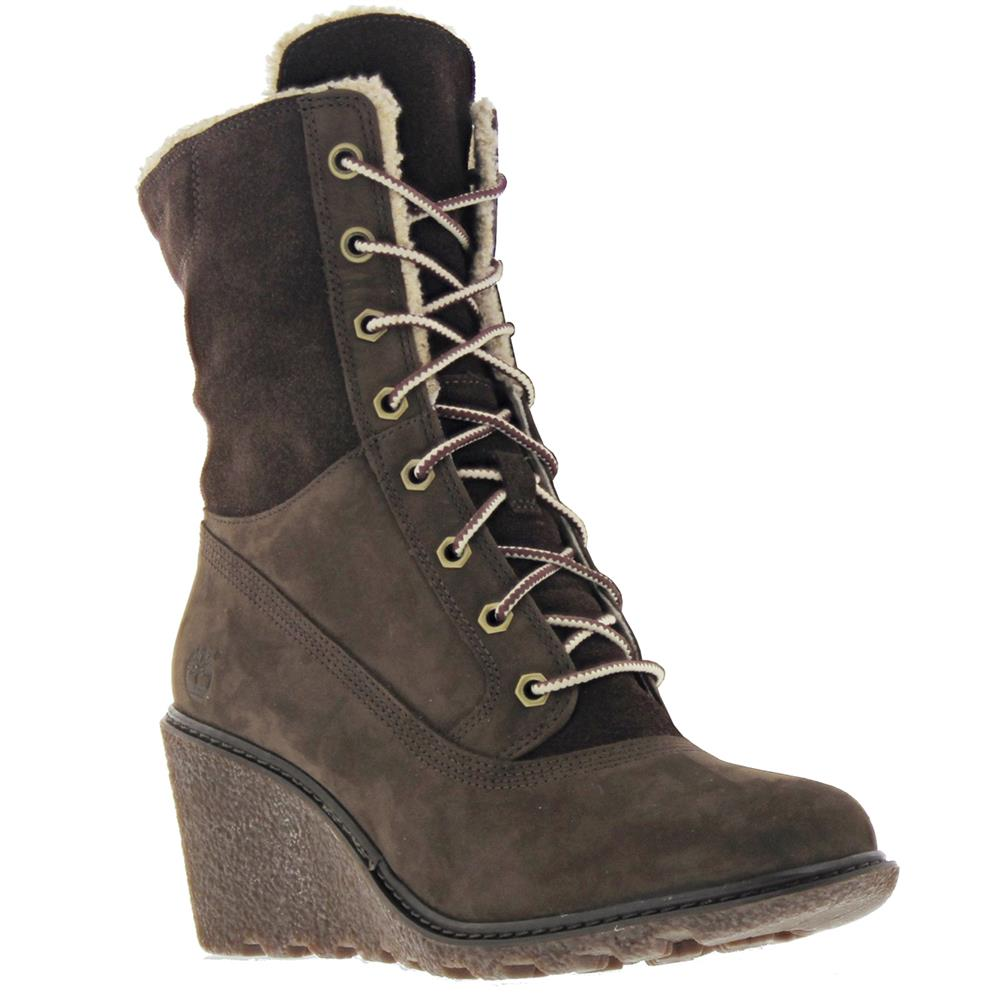 Timberland Amston Roll-Top Wedge Boots Womenu0026#39;s Boots Shoes Winter Boots | EBay