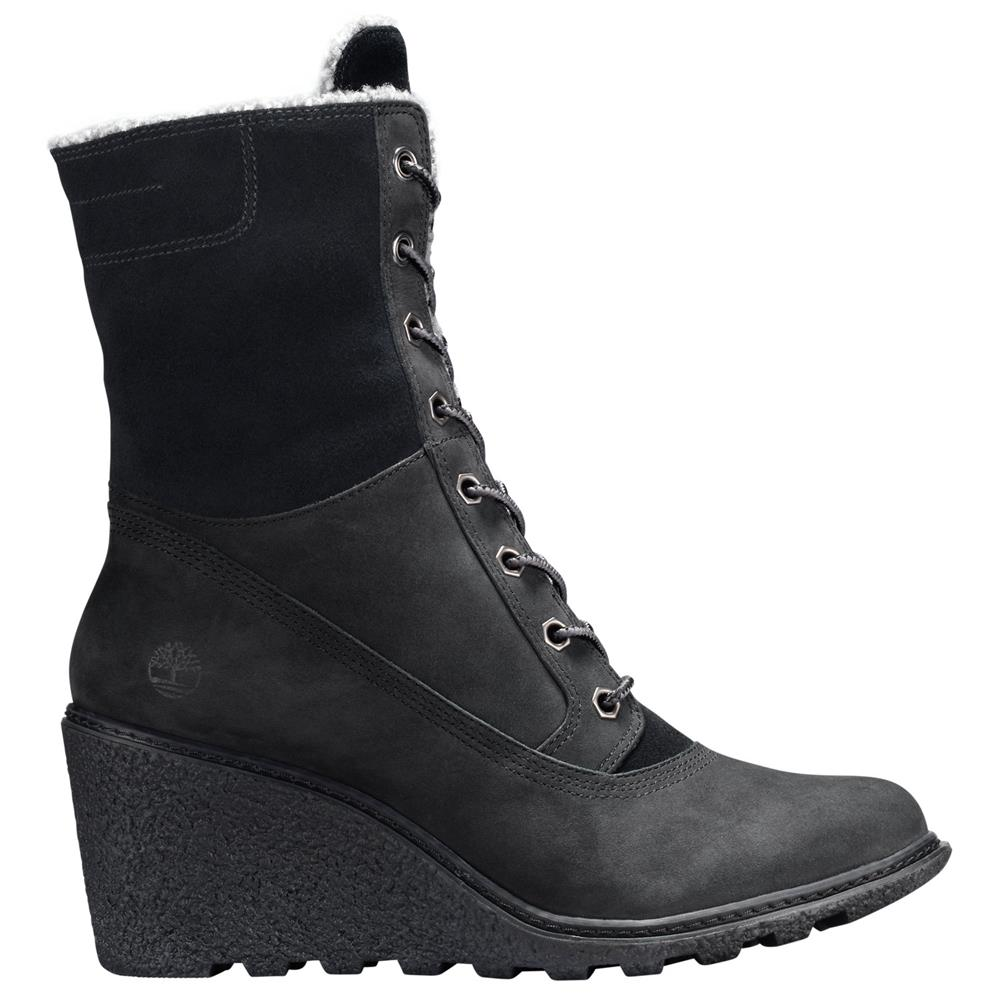 timberland amston roll top wedge boots damen stiefel schuhe winterstiefel ebay. Black Bedroom Furniture Sets. Home Design Ideas