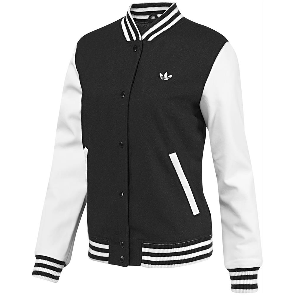 adidas originals style varsity jacket damen college jacke bergangsjacke ebay. Black Bedroom Furniture Sets. Home Design Ideas