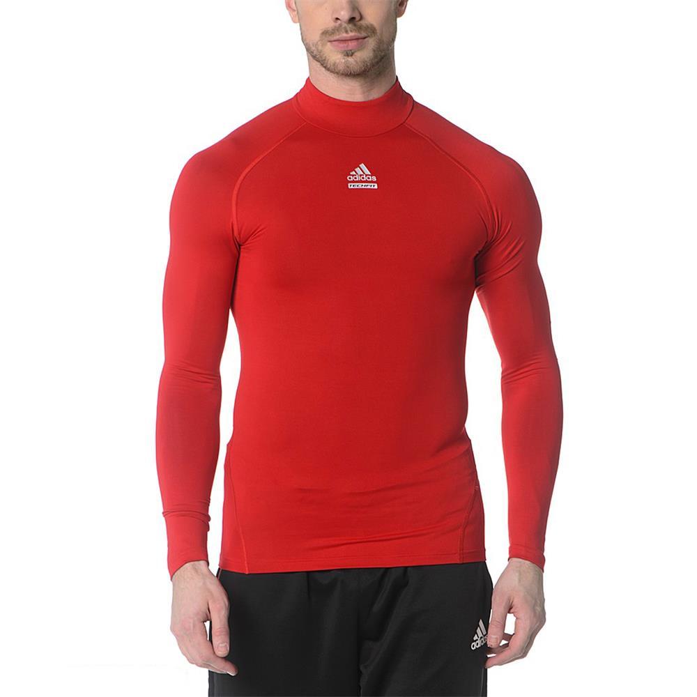 Adidas techfit c s turtleneck warm long sleeve shirt for Long sleeve black turtleneck shirt