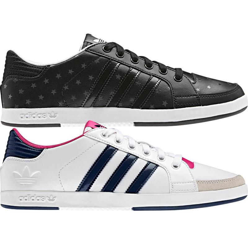 details about adidas court side low damen leder schuhe sneaker trainer. Black Bedroom Furniture Sets. Home Design Ideas