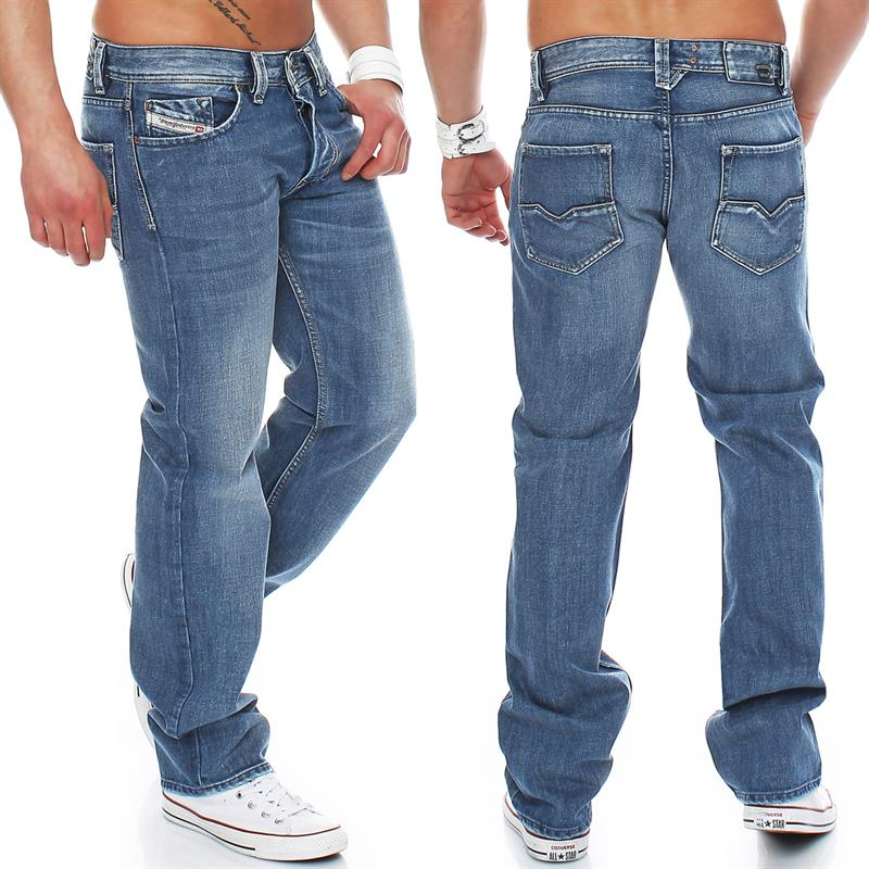 diesel larkee 008at 8at jeans regular straight mens jeans mens denim pants ebay. Black Bedroom Furniture Sets. Home Design Ideas