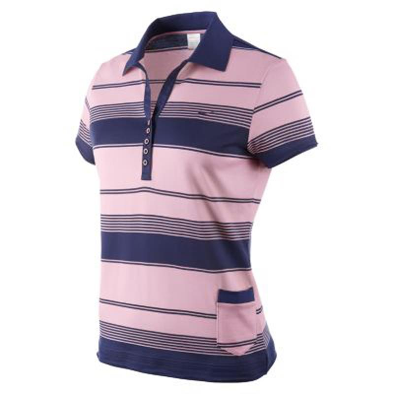 nike golf mercerized stripe ladies polo shirt ebay. Black Bedroom Furniture Sets. Home Design Ideas
