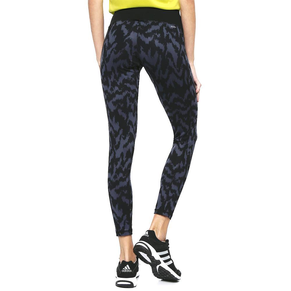 adidas-BASIC-Long-Tight-Print-2-Hose-Sporthose-Fitness-Training-Leggings Indexbild 3