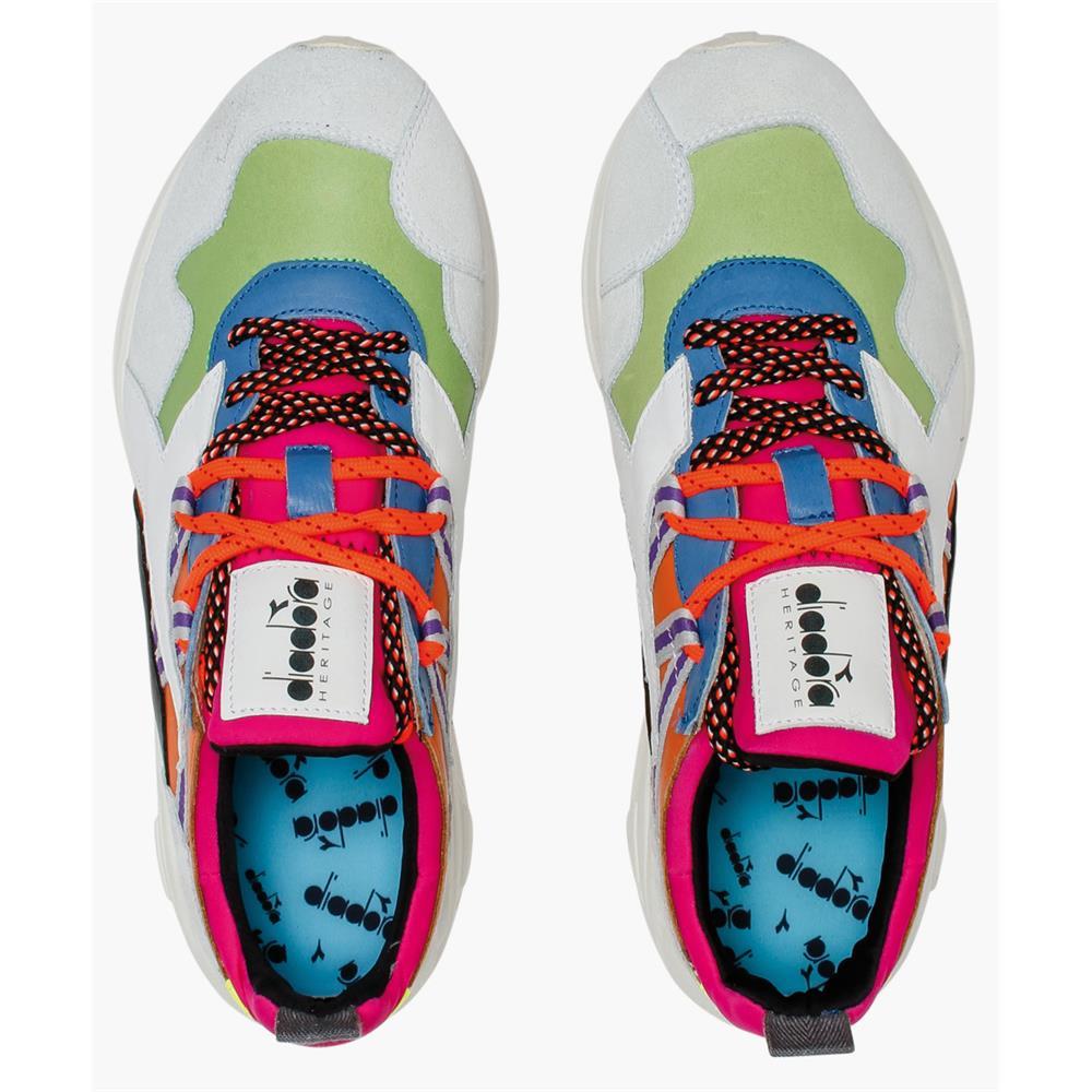 Indexbild 18 - Diadora Heritage Rave Leather Pop Herren Sneaker Damen Sportschuhe Turnschuhe