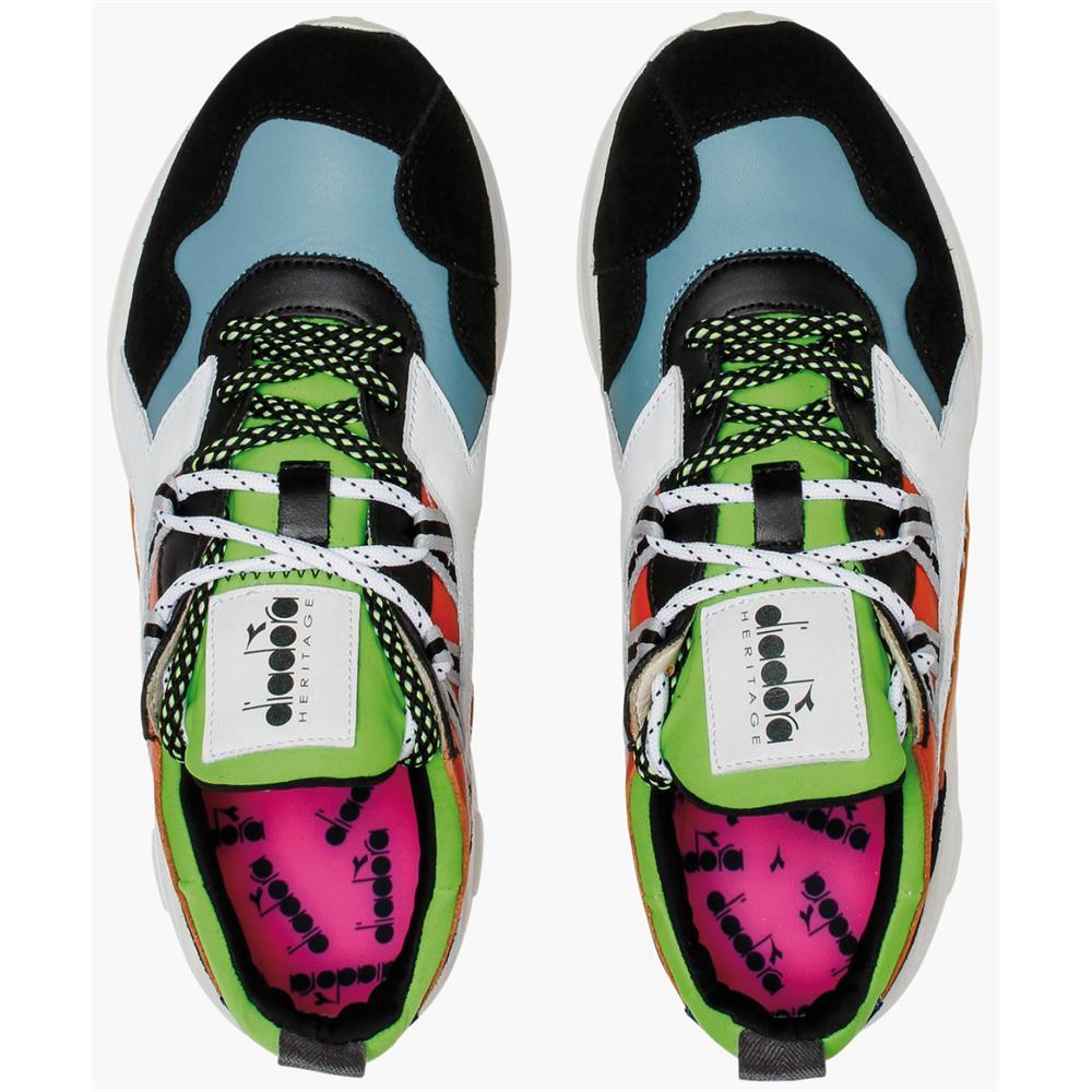 Indexbild 6 - Diadora Heritage Rave Leather Pop Herren Sneaker Damen Sportschuhe Turnschuhe