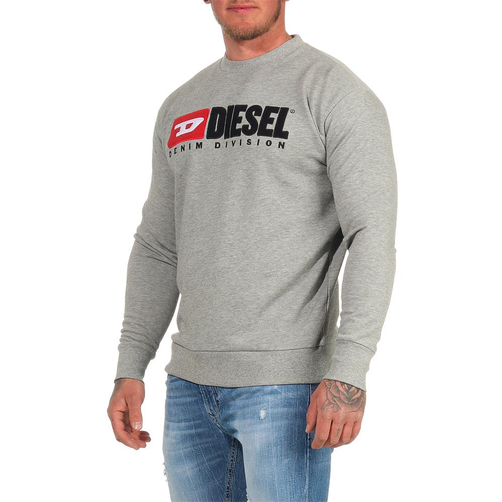 DIESEL-Sweatshirt-Herren-Rundhals-Pullover-Crew-Neck-Sweater-Pulli Indexbild 3
