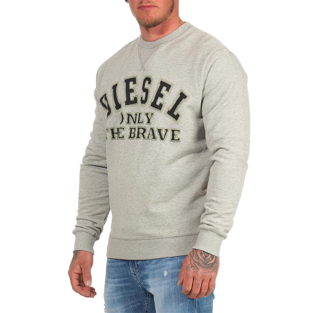DIESEL-Sweatshirt-Herren-Rundhals-Pullover-Crew-Neck-Sweater-Pulli Indexbild 27