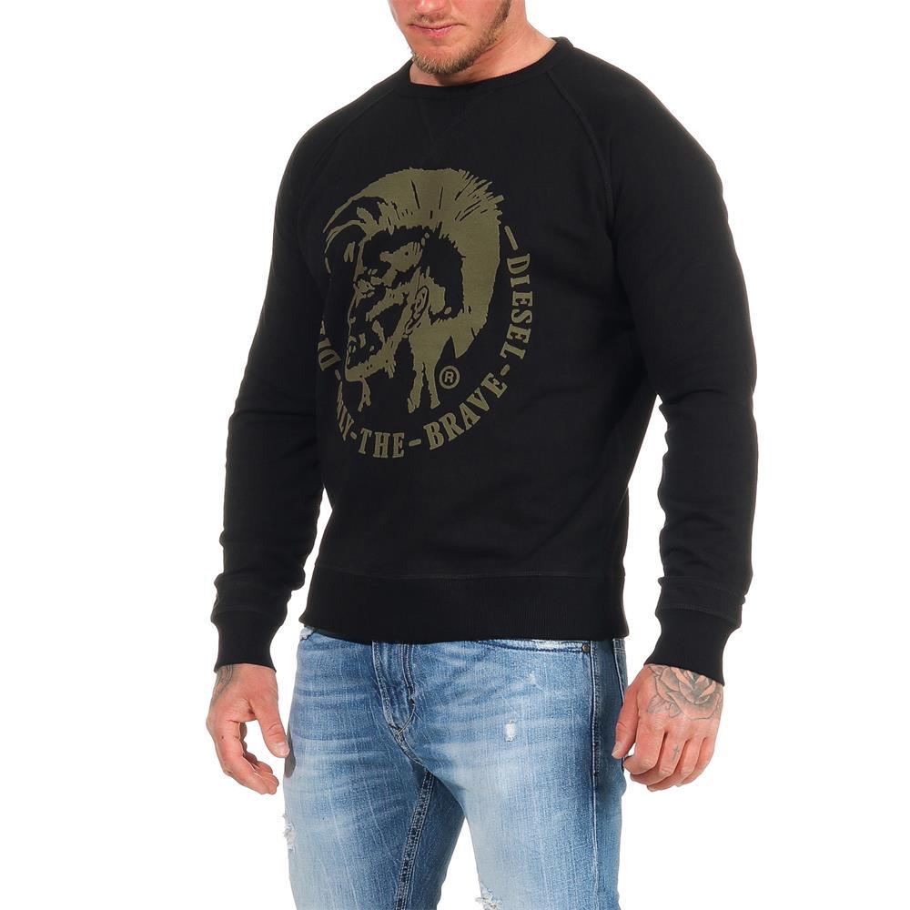 DIESEL-Sweatshirt-Herren-Rundhals-Pullover-Crew-Neck-Sweater-Pulli Indexbild 12