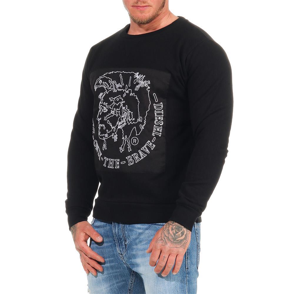 DIESEL-Sweatshirt-Herren-Rundhals-Pullover-Crew-Neck-Sweater-Pulli Indexbild 9