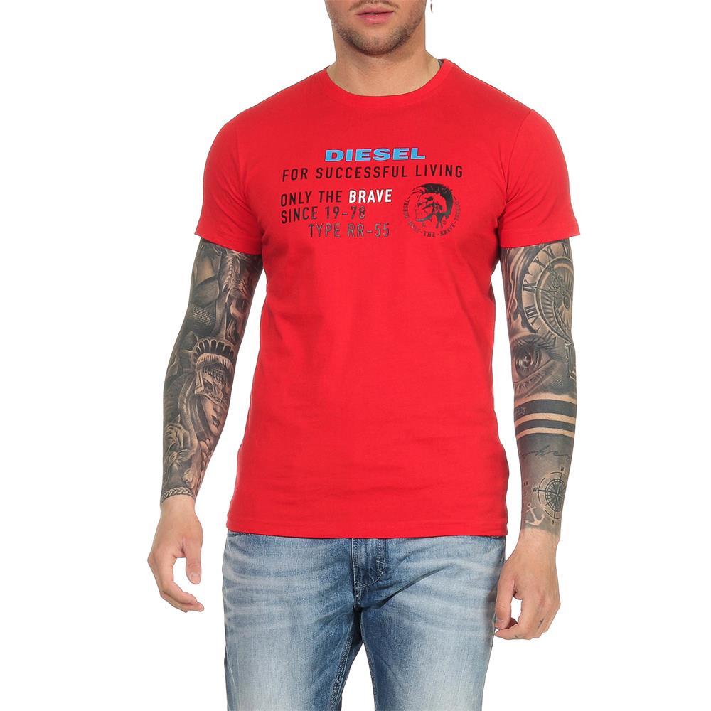Indexbild 23 - DIESEL Herren T-Shirt Mohawk Slim Tee Rundhals Kurzarm Shirt
