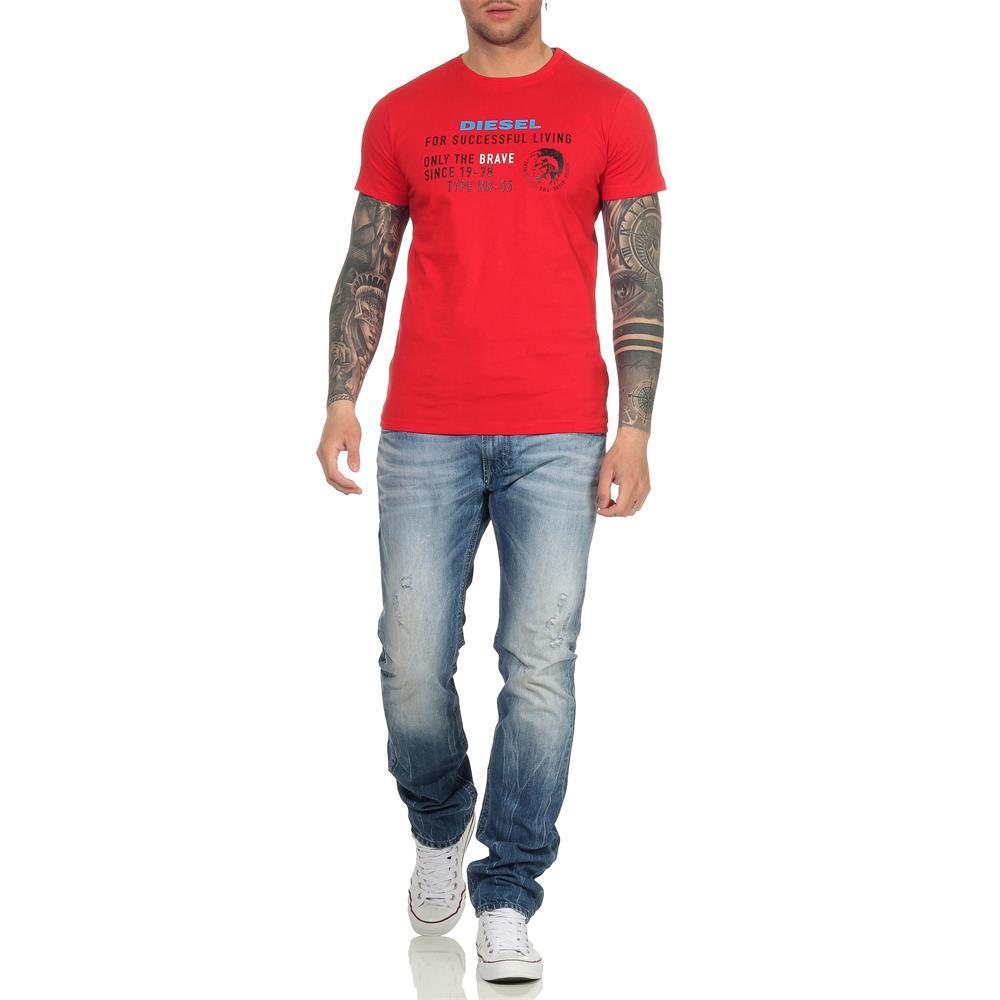 Indexbild 26 - DIESEL Herren T-Shirt Mohawk Slim Tee Rundhals Kurzarm Shirt
