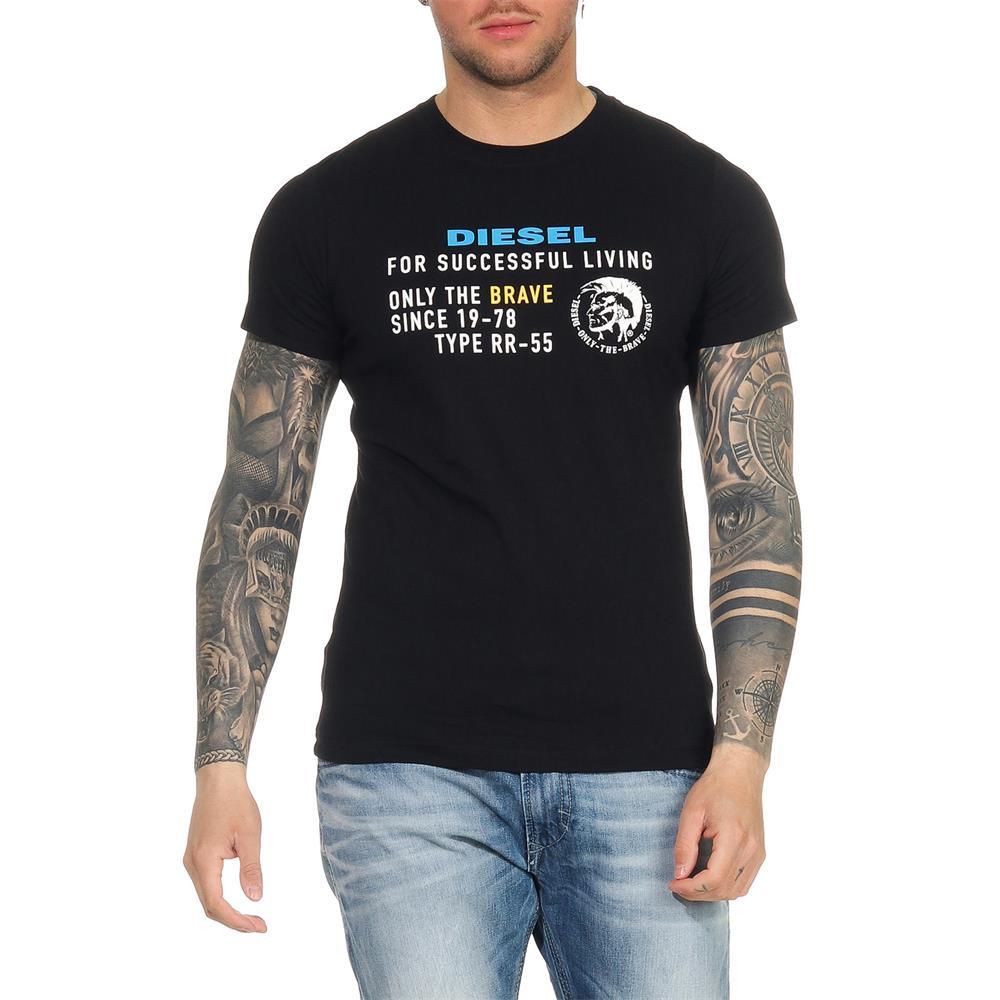 Indexbild 13 - DIESEL Herren T-Shirt Mohawk Slim Tee Rundhals Kurzarm Shirt