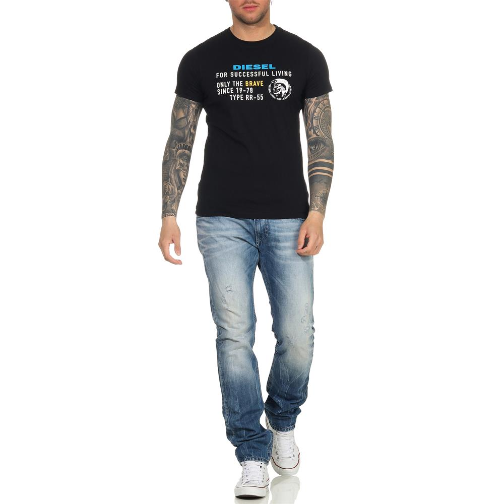 Indexbild 16 - DIESEL Herren T-Shirt Mohawk Slim Tee Rundhals Kurzarm Shirt