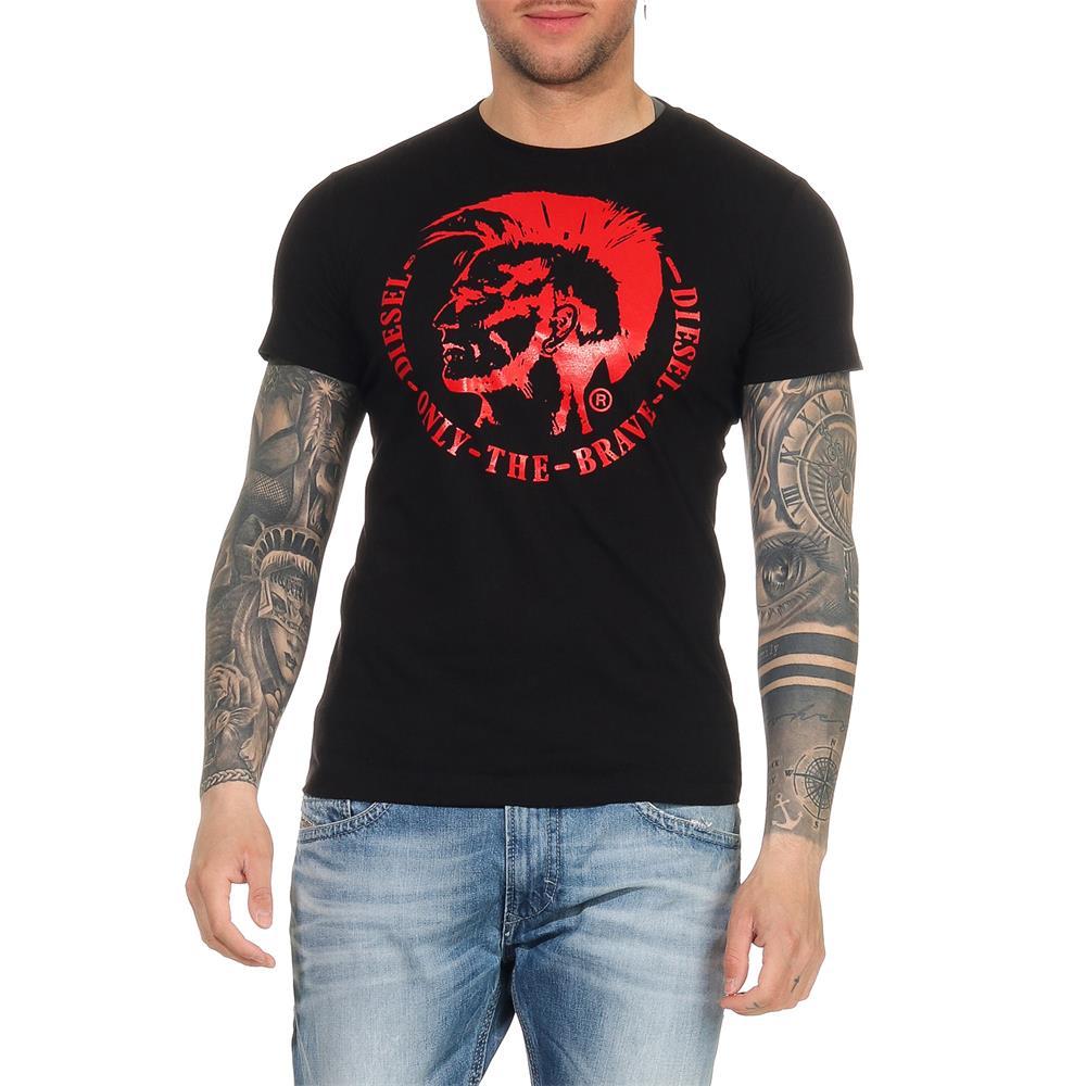 DIESEL-T-Head-PS-Herren-T-Shirt-Mohawk-Tee-Shirt-Kurzarm Indexbild 8