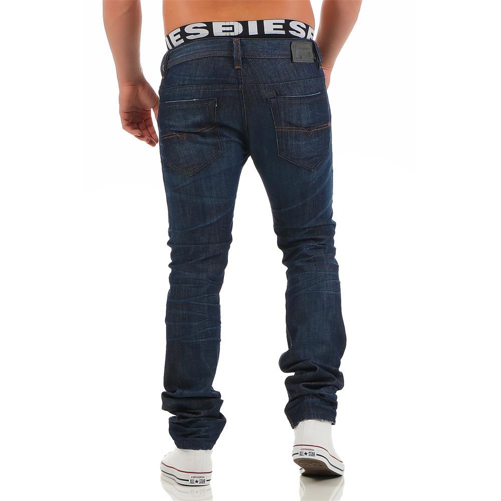 diesel thavar 0842n jeans mens slim skinny jeans denim