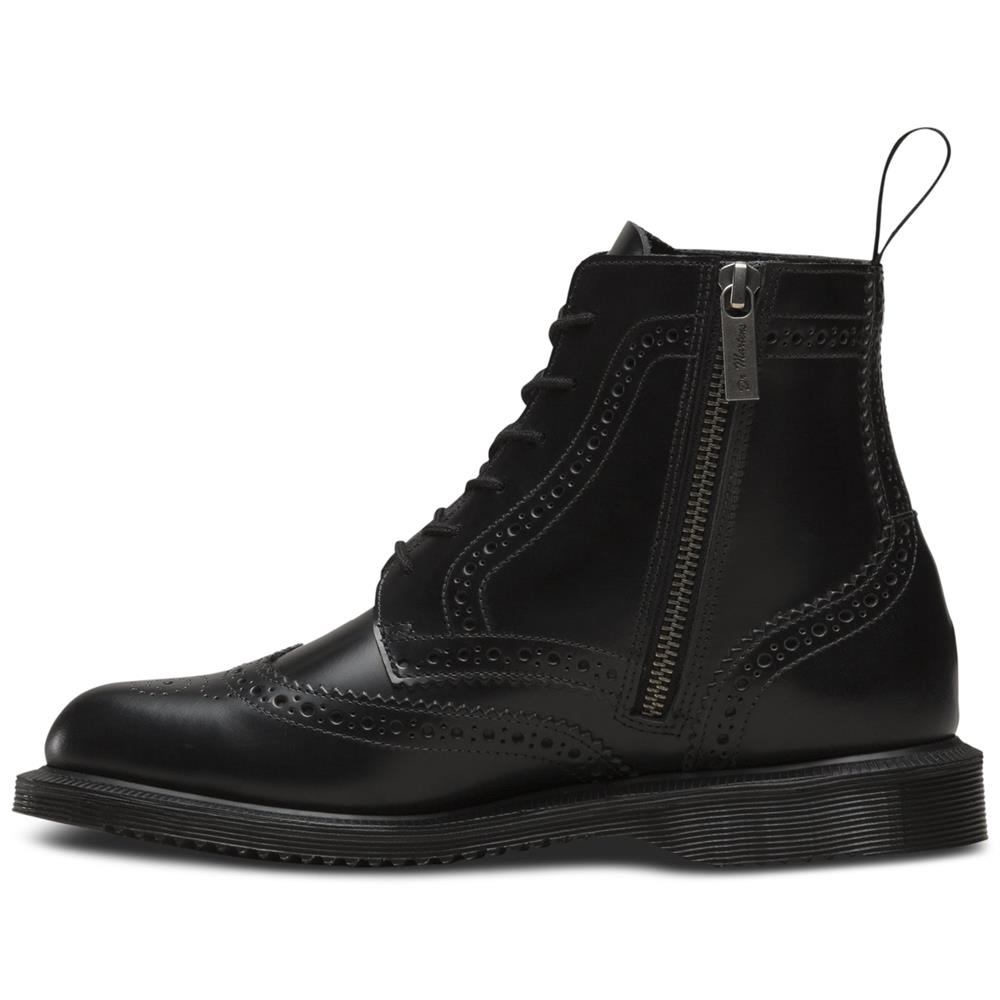 Dr-Martens-Delphine-Damen-Smooth-Leder-Boots-Doc-Martens-Docs-Stiefel-Stiefelet Indexbild 5