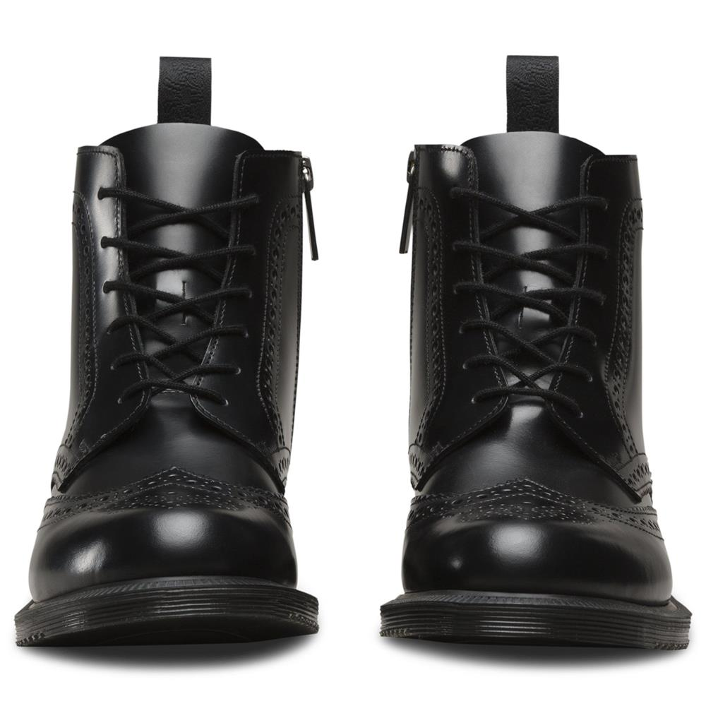 Details zu Dr. Martens Delphine Damen Smooth Leder Boots Doc Martens Docs Stiefel Stiefelet
