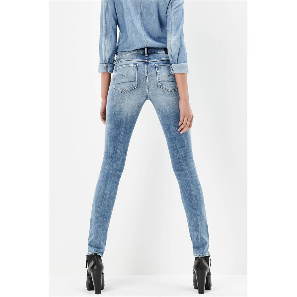 G-Star-3301-Contour-High-Waist-Skinny-Damen-Jeans-Hose-Jeanshose-Roehrenjeans Indexbild 3