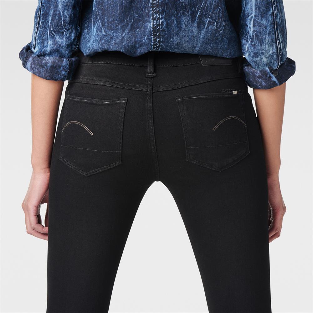 G-Star-3301-Contour-High-Waist-Skinny-Damen-Jeans-Hose-Jeanshose-Roehrenjeans Indexbild 7