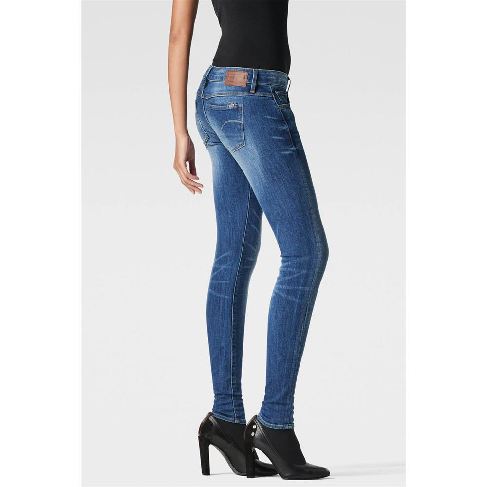 Indexbild 14 - G-Star 3301 Low Waist Super Skinny Damen Jeans Hose Jeanshose Röhrenjeans