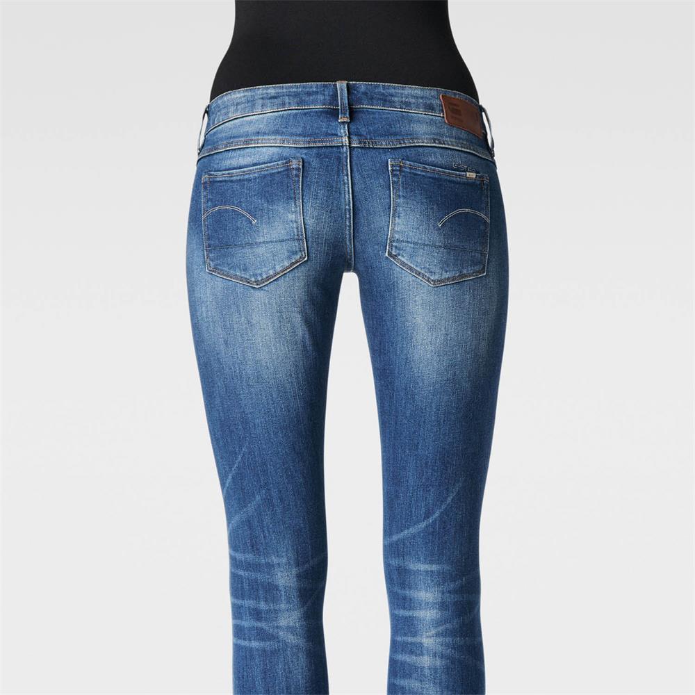 Indexbild 15 - G-Star 3301 Low Waist Super Skinny Damen Jeans Hose Jeanshose Röhrenjeans