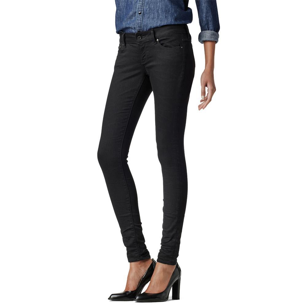 Indexbild 16 - G-Star 3301 Low Waist Super Skinny Damen Jeans Hose Jeanshose Röhrenjeans