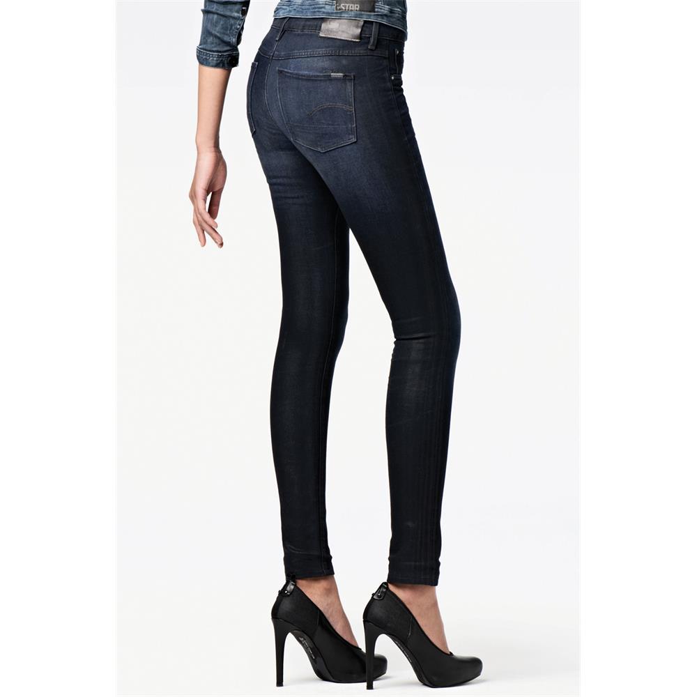 Indexbild 3 - G-Star 3301 Super Skinny Damen Jeans Hose Jeanshose Röhrenjeans