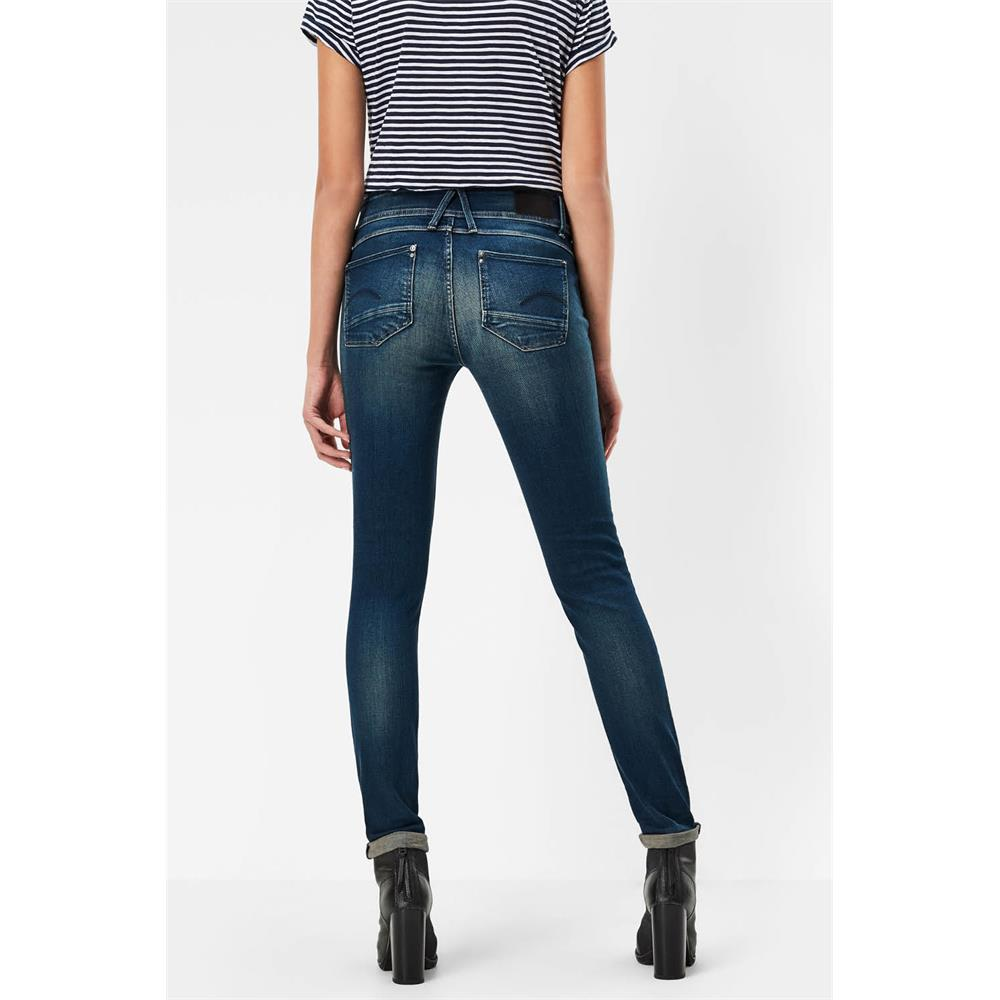 Indexbild 39 - G-Star Lynn Mid Waist Skinny Damen Jeans Hose Jeanshose Röhrenjeans