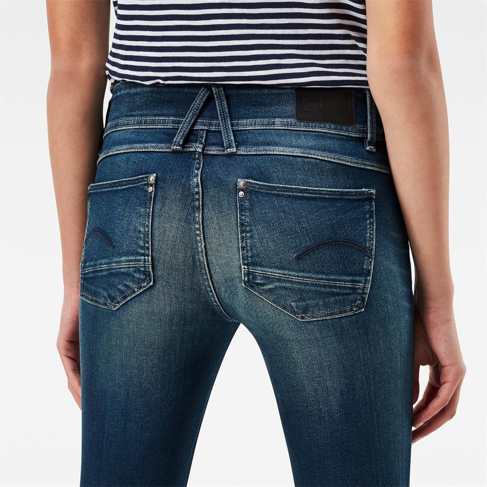 Indexbild 41 - G-Star Lynn Mid Waist Skinny Damen Jeans Hose Jeanshose Röhrenjeans