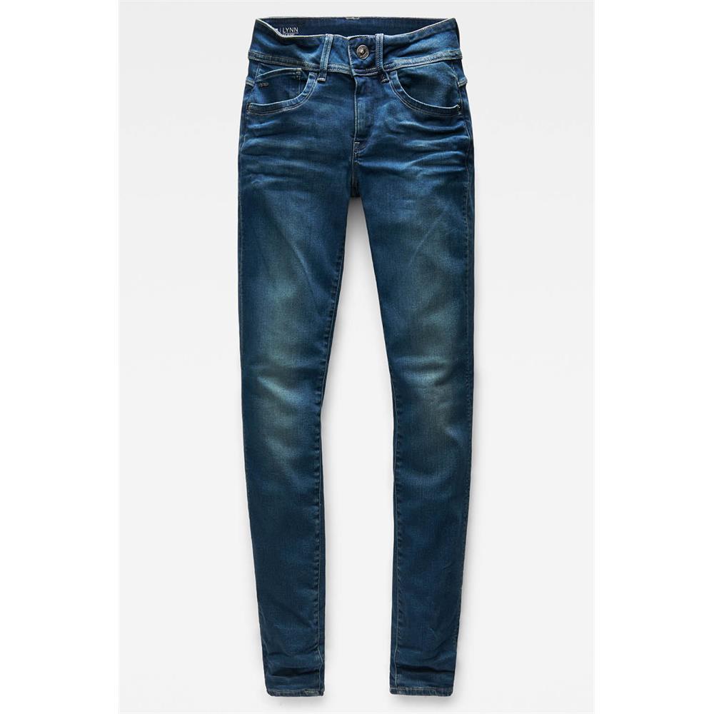 Indexbild 42 - G-Star Lynn Mid Waist Skinny Damen Jeans Hose Jeanshose Röhrenjeans