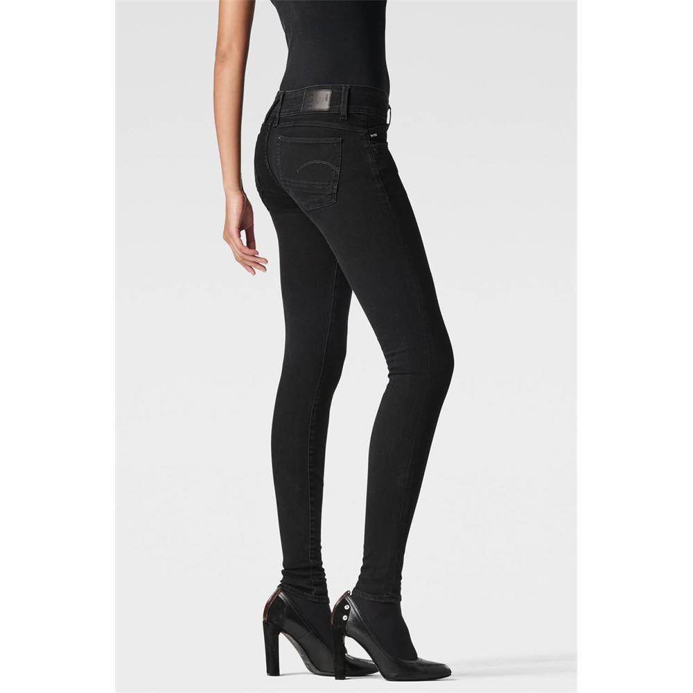 Indexbild 24 - G-Star Lynn Mid Waist Skinny Damen Jeans Hose Jeanshose Röhrenjeans