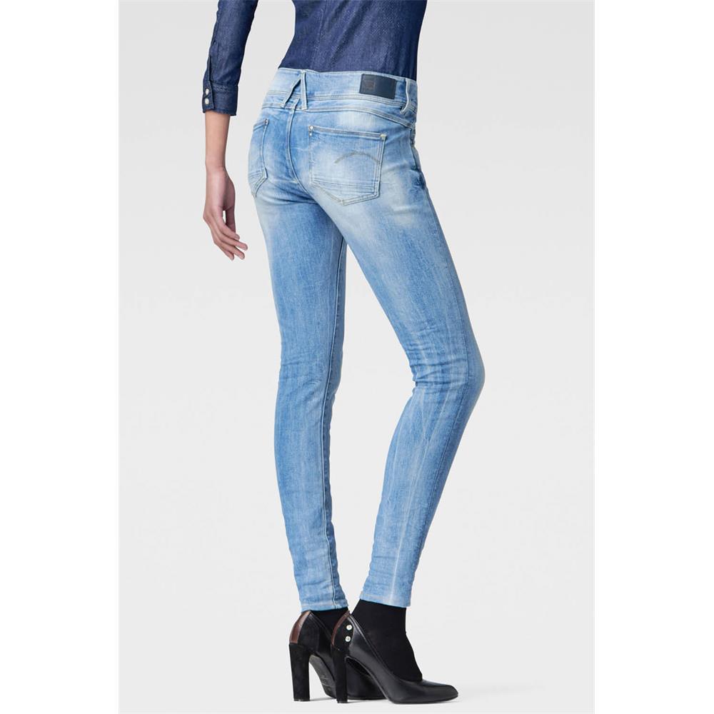Indexbild 36 - G-Star Lynn Mid Waist Skinny Damen Jeans Hose Jeanshose Röhrenjeans
