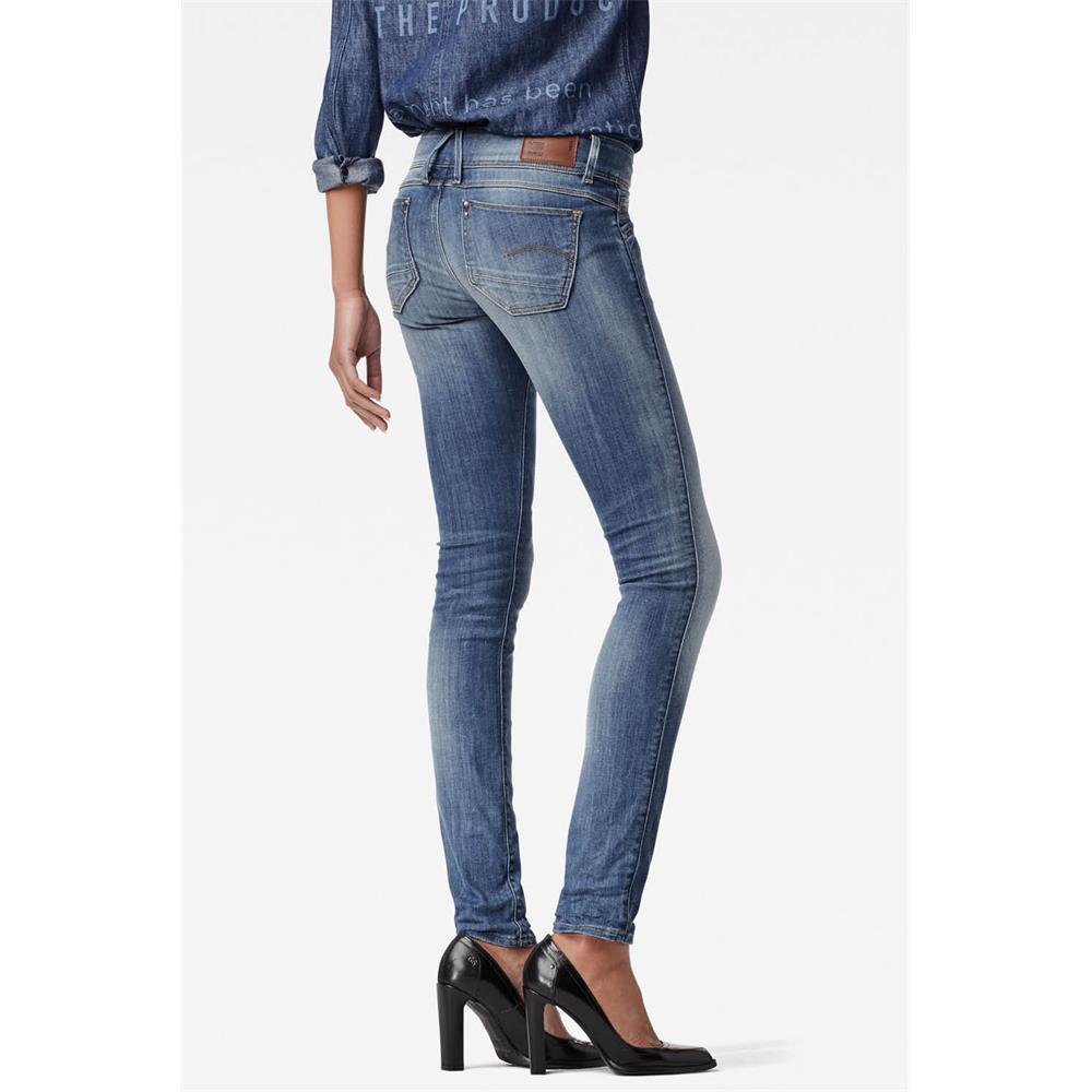 Indexbild 33 - G-Star Lynn Mid Waist Skinny Damen Jeans Hose Jeanshose Röhrenjeans