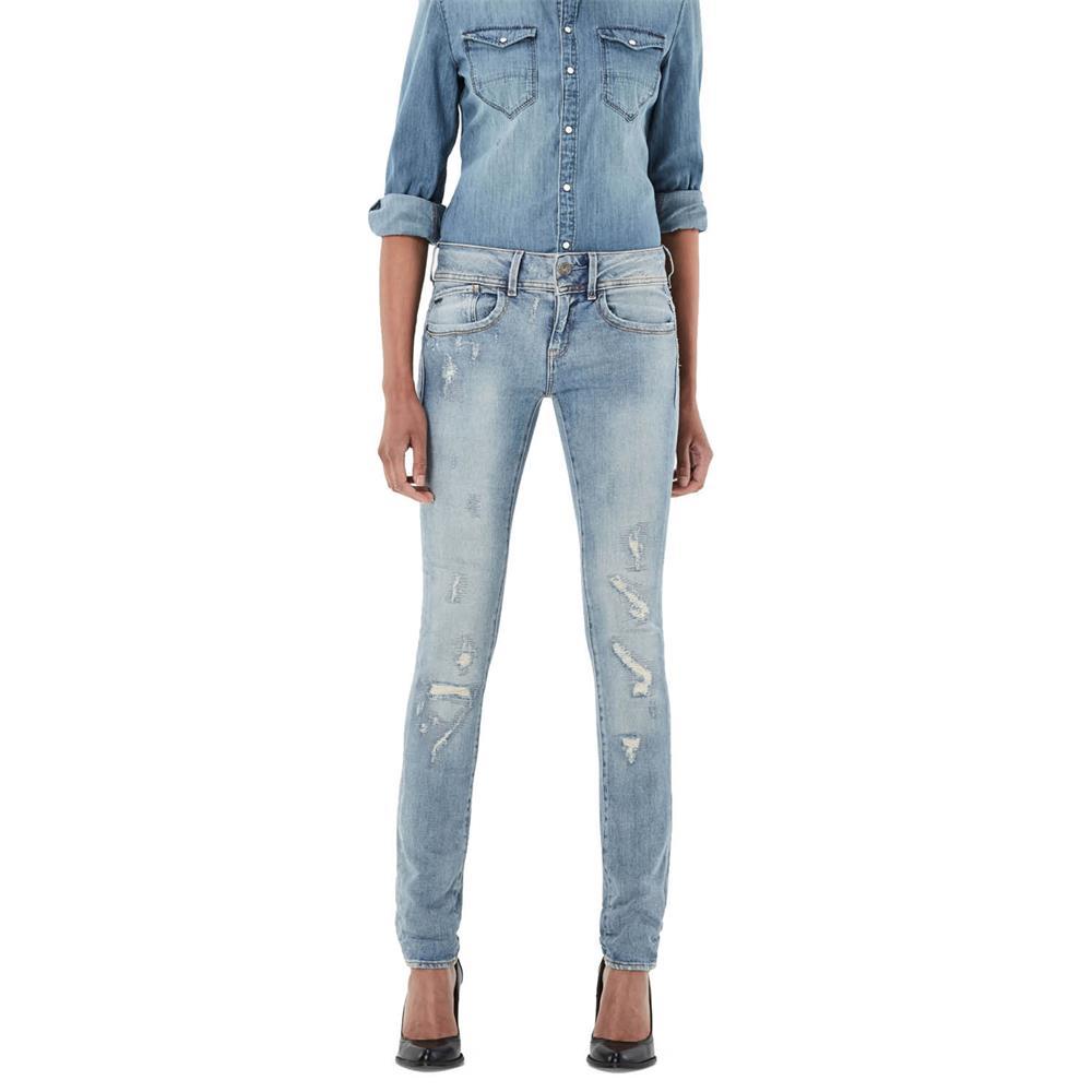 Indexbild 26 - G-Star Lynn Mid Waist Skinny Damen Jeans Hose Jeanshose Röhrenjeans