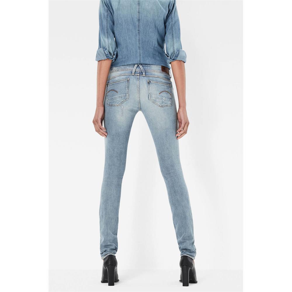 Indexbild 27 - G-Star Lynn Mid Waist Skinny Damen Jeans Hose Jeanshose Röhrenjeans