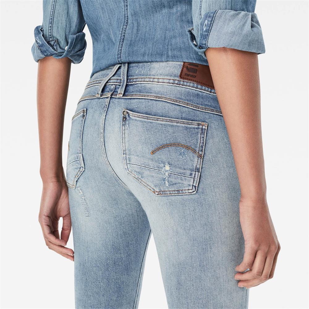 Indexbild 28 - G-Star Lynn Mid Waist Skinny Damen Jeans Hose Jeanshose Röhrenjeans